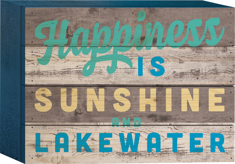 Happiness Tabletop Sign - PuzzleMatters