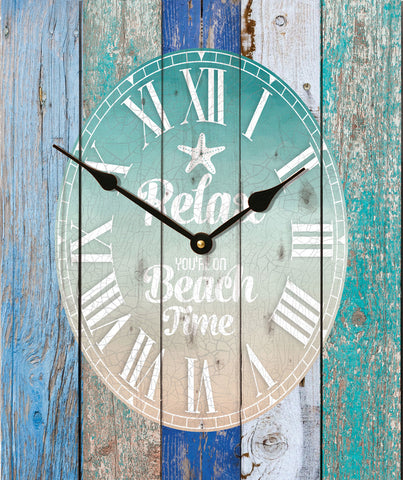 Beach Time Wall Clock - PuzzleMatters
