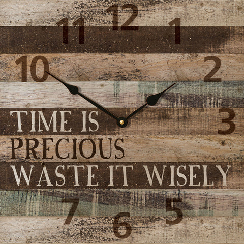 Time is Precious Wall Clock - PuzzleMatters