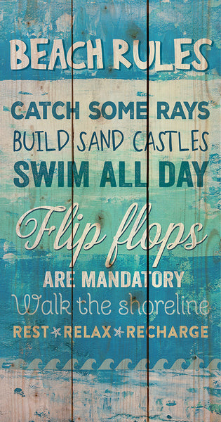 Beach Rules Pallet Wall Decor - PuzzleMatters