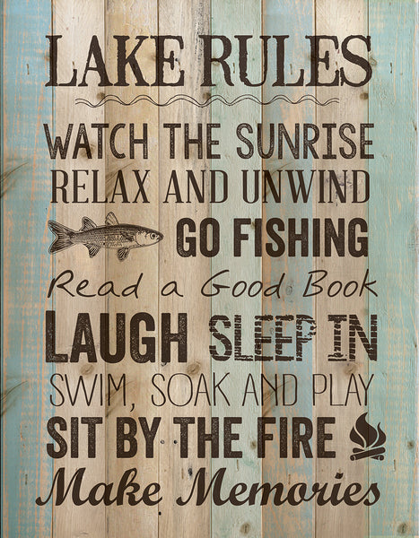 Lake Rules Wall Decor - PuzzleMatters