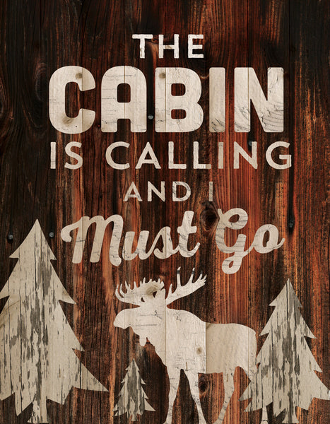 The Cabin is Calling Wall Decor - PuzzleMatters