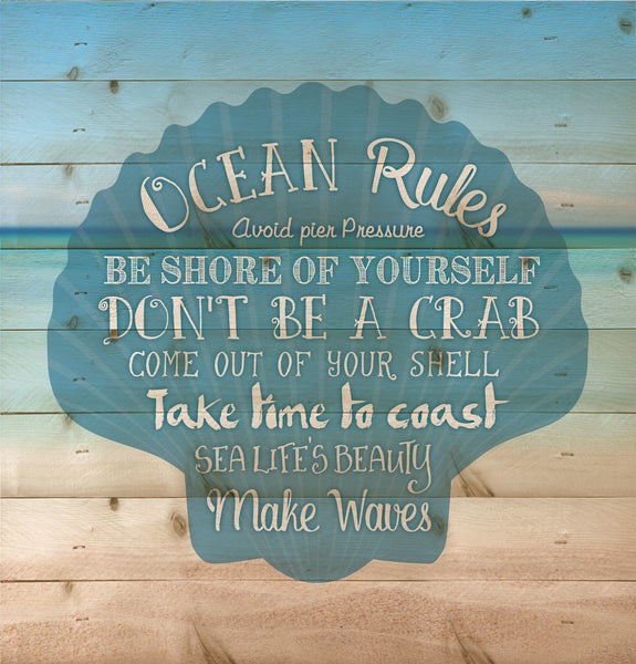 Ocean Rules Wall Decor - PuzzleMatters