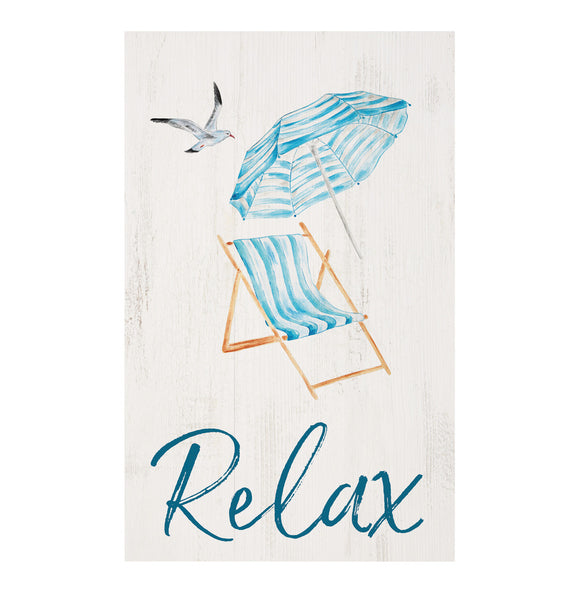 Relax Beach Chair Pallet Wall Decor