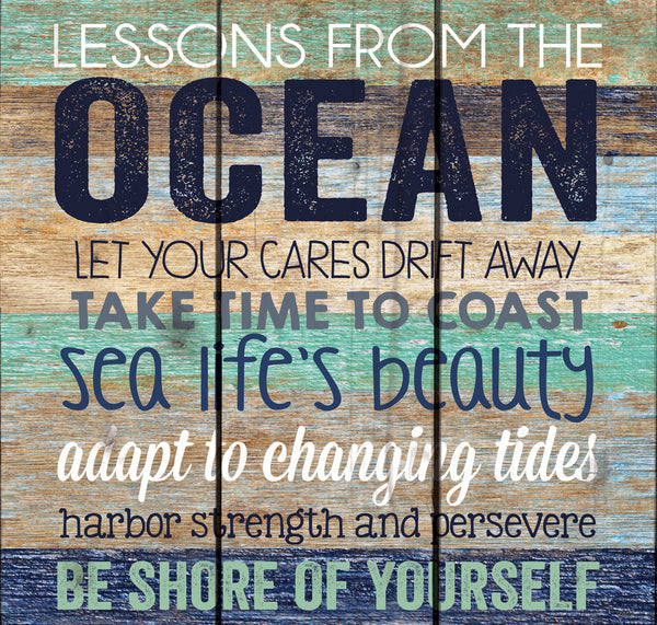 Lessons from the Ocean Pallet Wall Decor - small