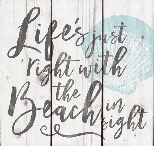 Life's just right with the Beach in sight Pallet Wall Decor