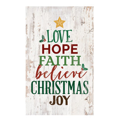 Love Hope Christmas Wall Decor