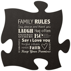 Family Rule Quote Puzzle Piece - PuzzleMatters