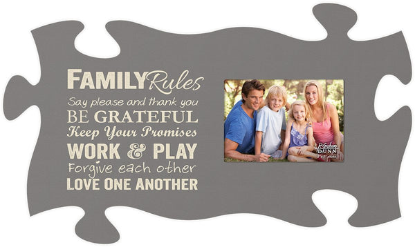 Family Rules Puzzle Photo Frame - PuzzleMatters