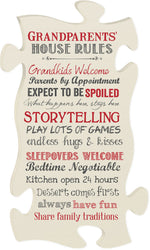 Grandparent's House Rules Puzzle Piece - PuzzleMatters