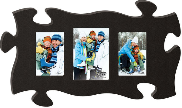 A Triple Puzzle Photo Frame - choose from 5 colors - PuzzleMatters - 1