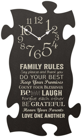 Family Rules Puzzle Clock - PuzzleMatters