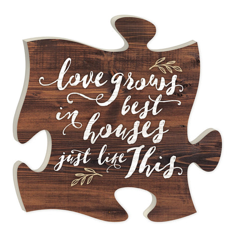 Love Grows Best Puzzle Piece