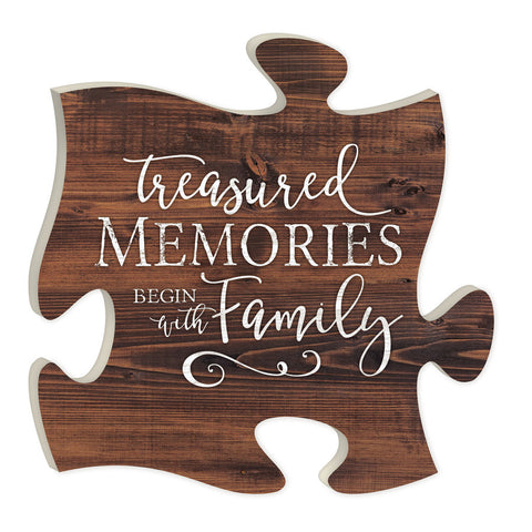 Treasured Memories Begin with Family Puzzle Piece