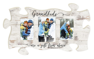 Grandkids Triple Puzzle Photo Frame