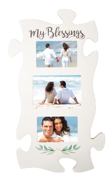 My Blessings Triple Puzzle Photo Frame