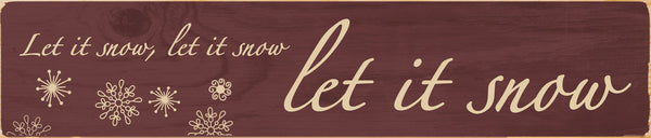 Let it Snow Christmas Stick Sign - PuzzleMatters