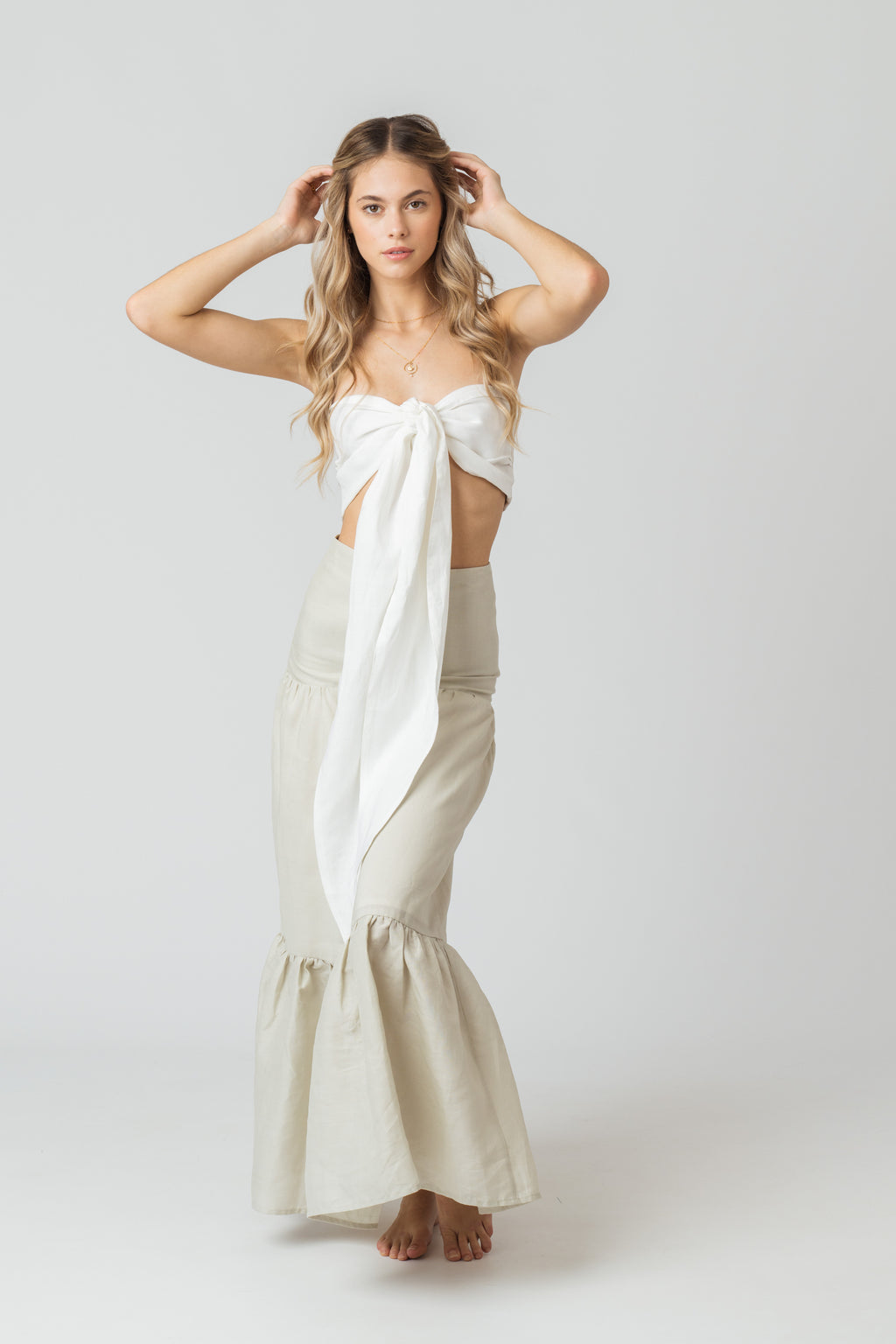 Multiverse Top in White Linen