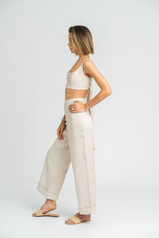 Halo Pant in Stone