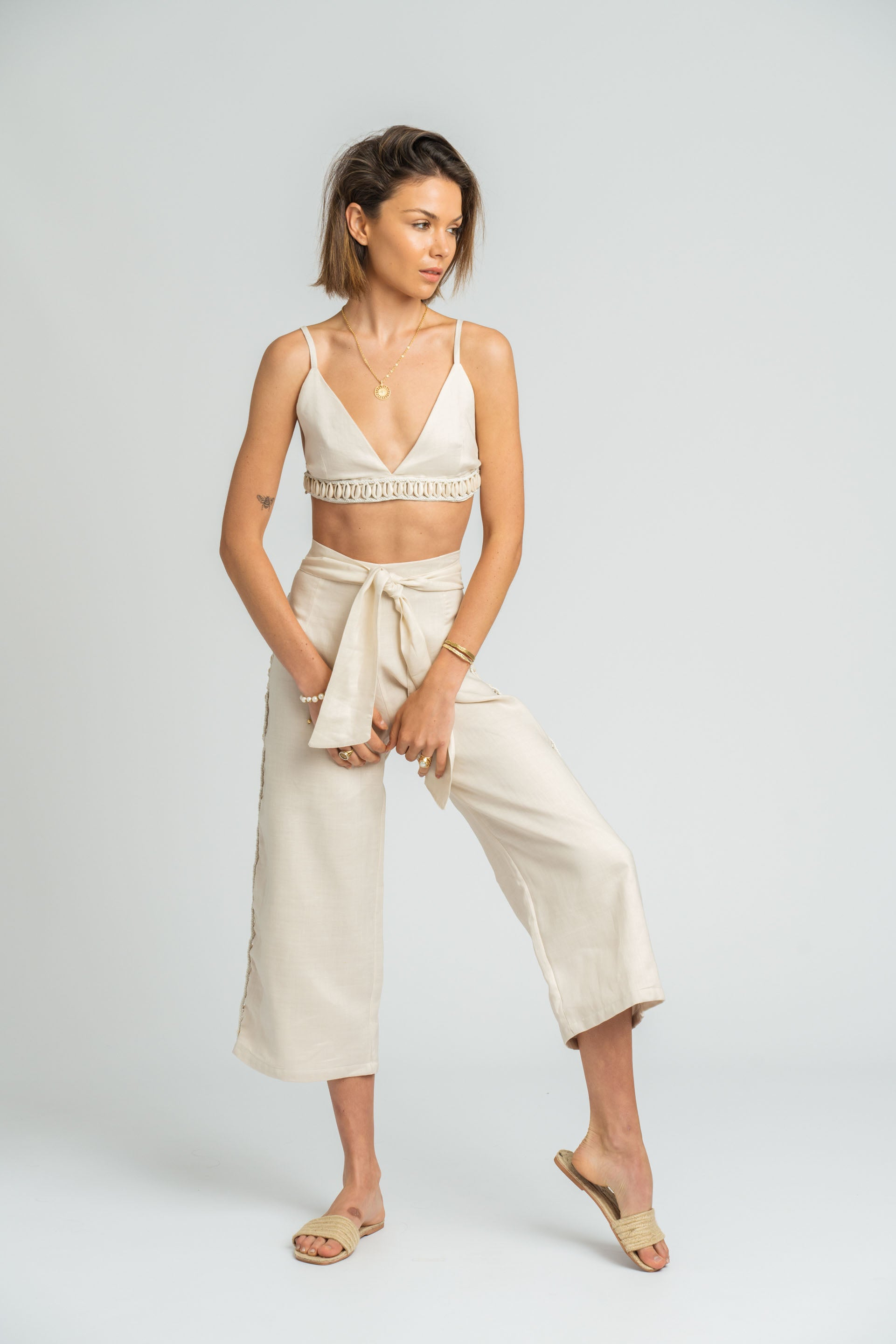 Pacifico Pant in Stone