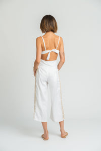 Siren Pant in White Linen