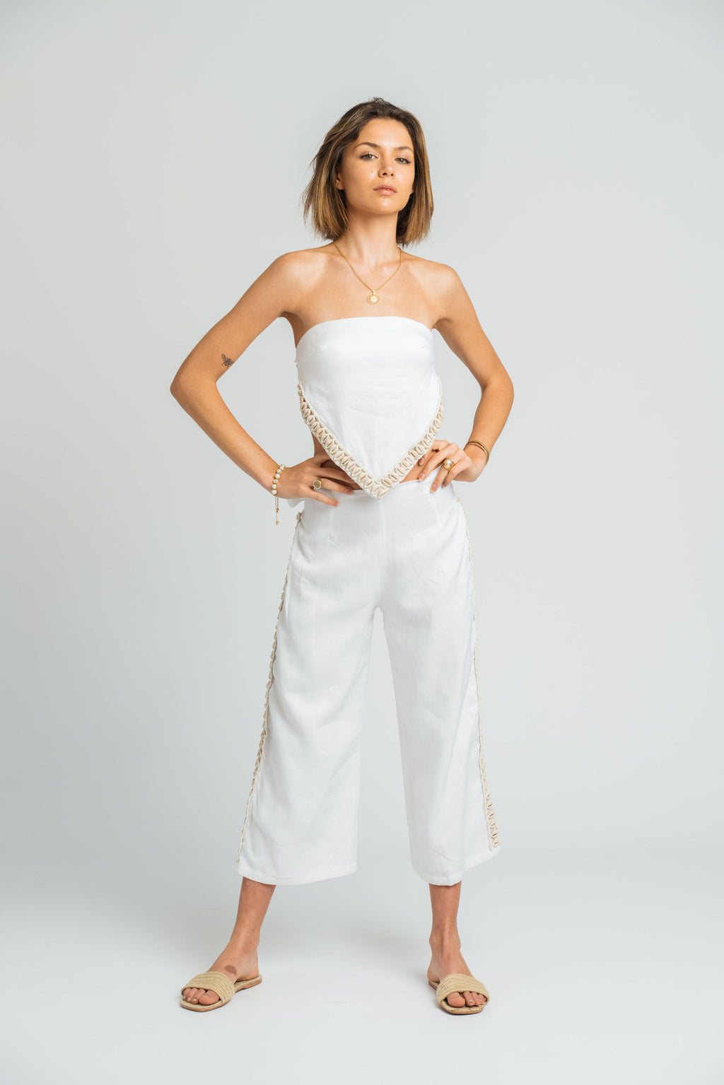 Siren Pant In White
