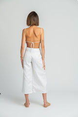 Malinao Backless Boobtube In White