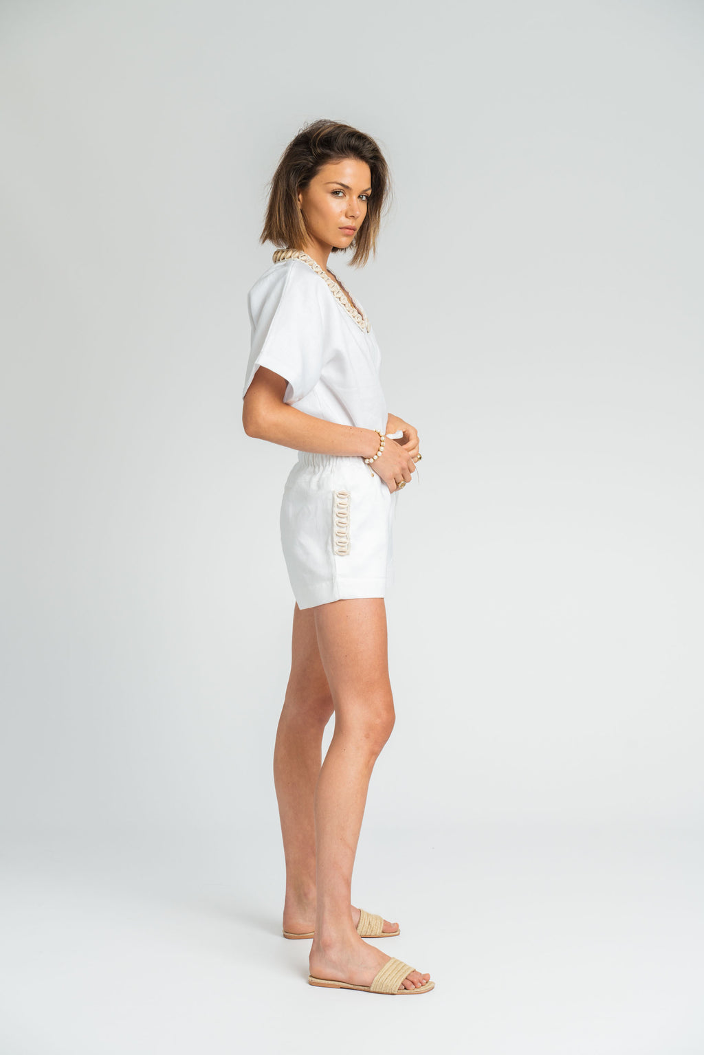 Siren Short In White