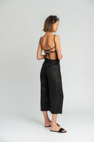 Santa Fe Backless Top in Black