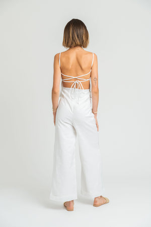Santa Fe Backless Top In White