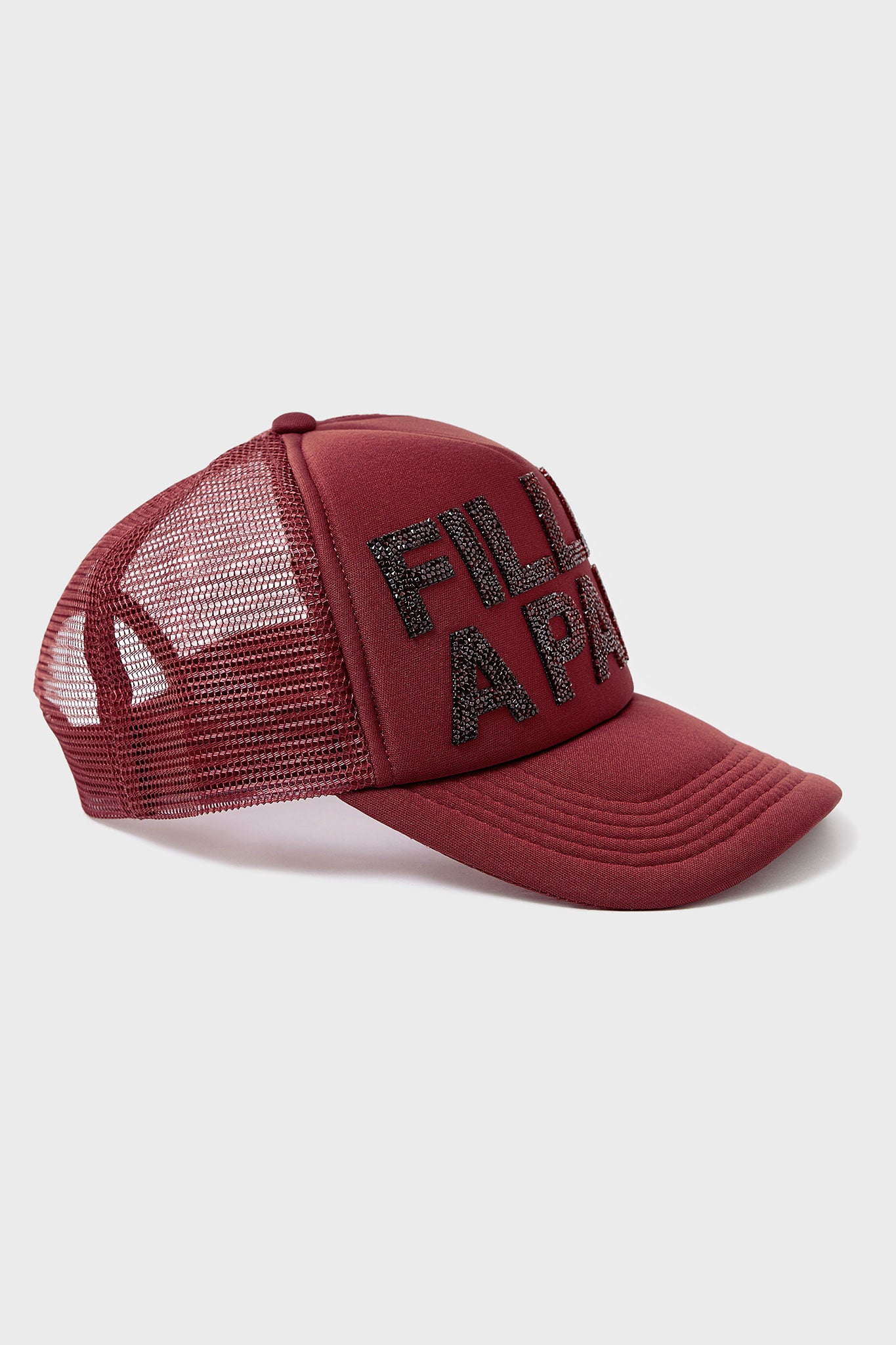 BURGUNDY CRYSTAL CAP