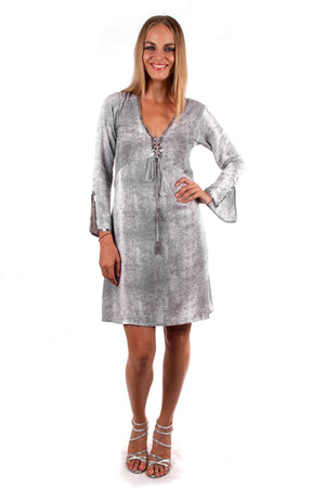 Fitted Swing Dress (Taupe) - FrejaDesigns