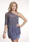 Boho Poncho (Denim Blue) - FrejaDesigns