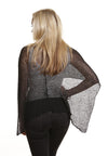 Boho Poncho (Black) - FrejaDesigns