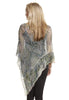 Boho Poncho, Dragon print, long