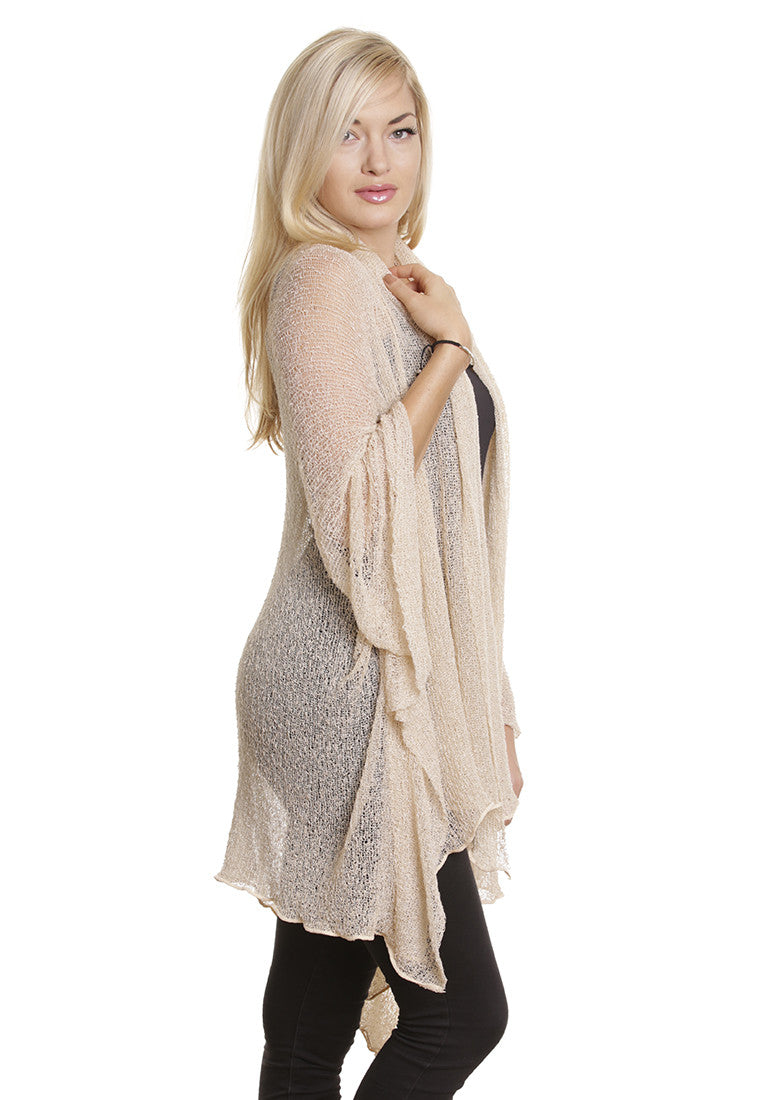 Maxi Jacket/Cardigan (Cream) - FrejaDesigns