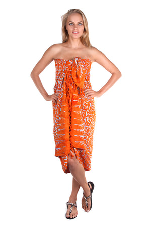 Pareo Sarong Orange - FrejaDesigns