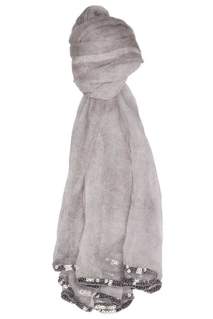 Silk Scarf Snake (Light Grey) - FrejaDesigns