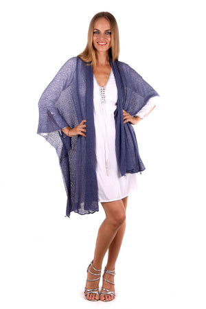 Maxi Jacket/Cardigan (Denim Blue) - FrejaDesigns