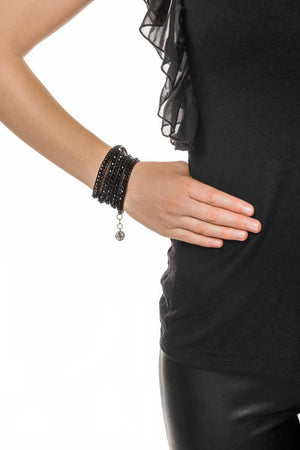 Wrap Bracelet (Black) - FrejaDesigns
