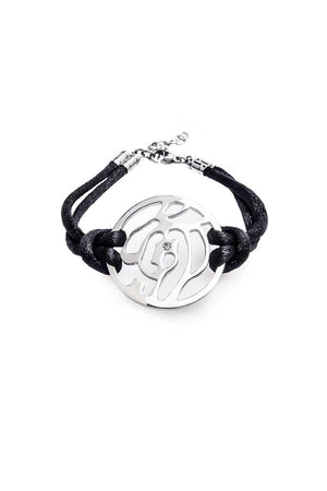 Bracelet: Black Cord (Steel) - FrejaDesigns