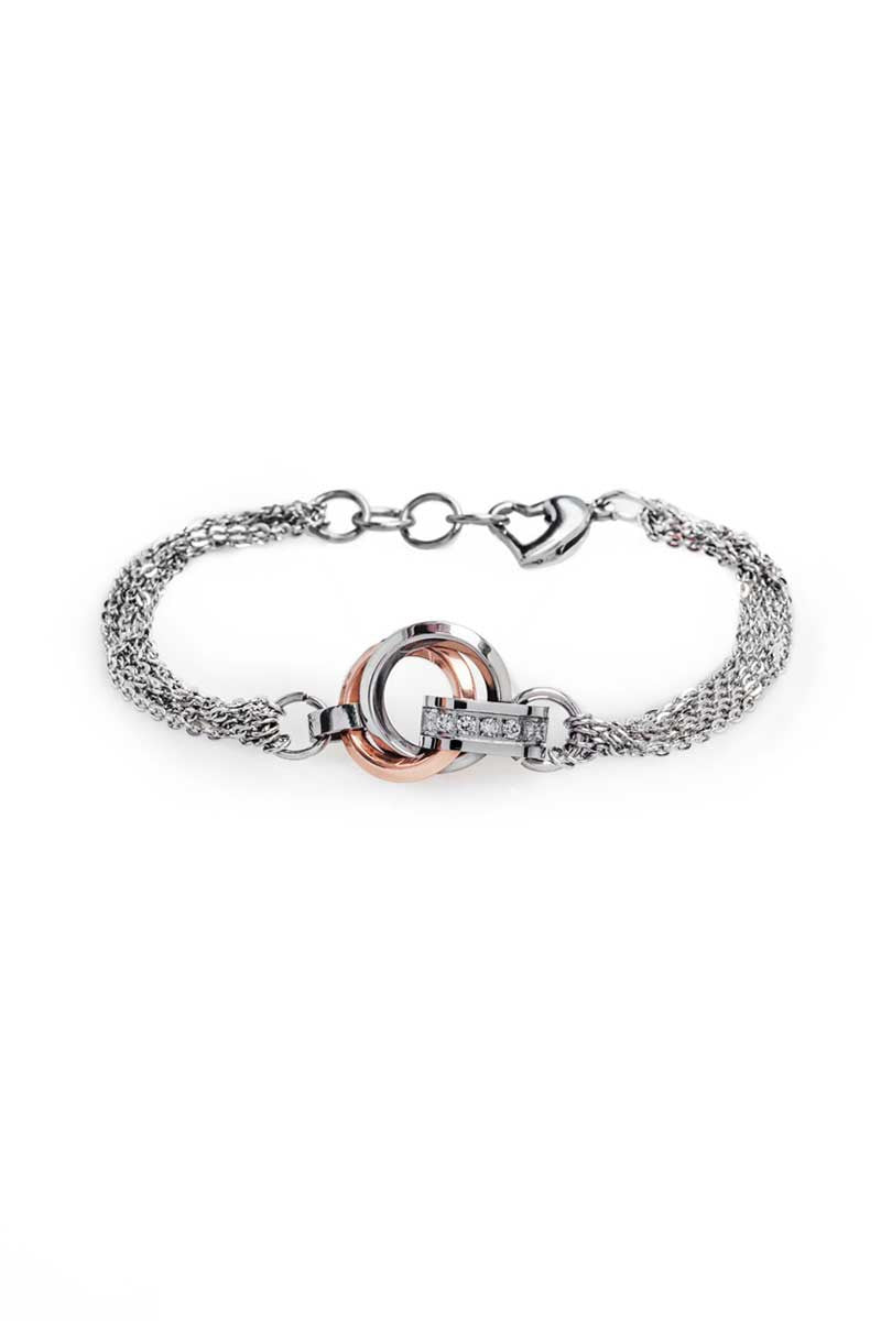 Bracelet: Steel (Rose Gold/Steel) - FrejaDesigns