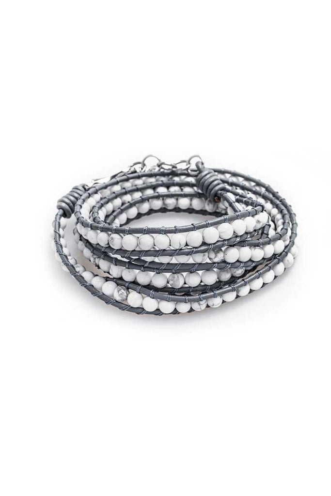 Wrap Bracelet (Grey/White)
