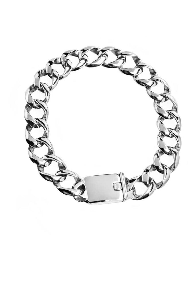 Necklace: Chunky Chain Link, Steel.