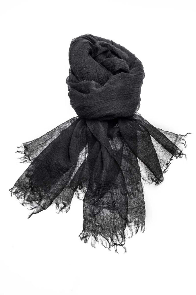 Mongolian Cashmere Scarf (Black)