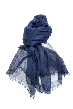 Mongolian Cashmere Scarf (Navy) - FrejaDesigns
