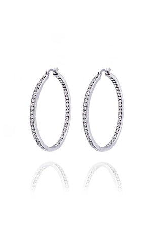 Hoop Earrings: Zirconia (Clear - 4.5) - FrejaDesigns