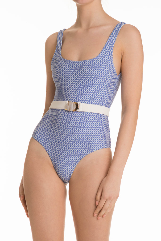 Maya Bodysuit in Seville Blue