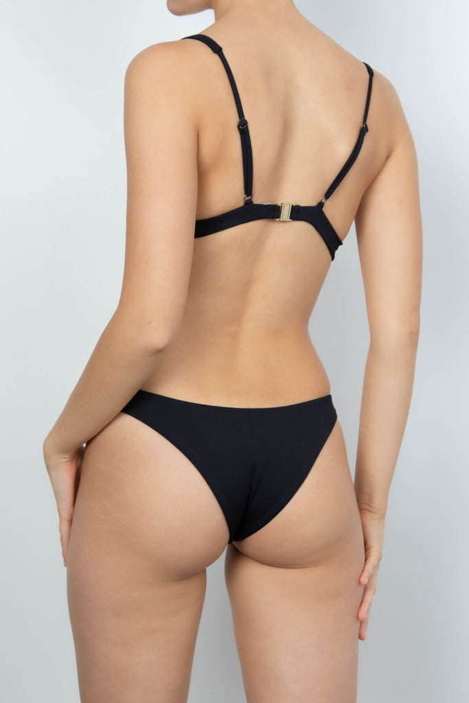 Anais Bottom in Black Rib
