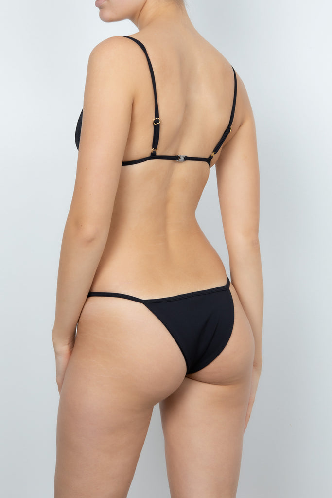 Mara Bottom in Black Rib